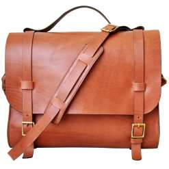 Leather Messenger Bag With Organizer