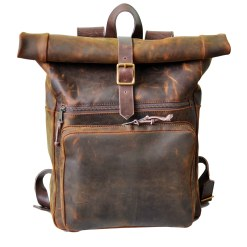 walklo leather daily rolltop front