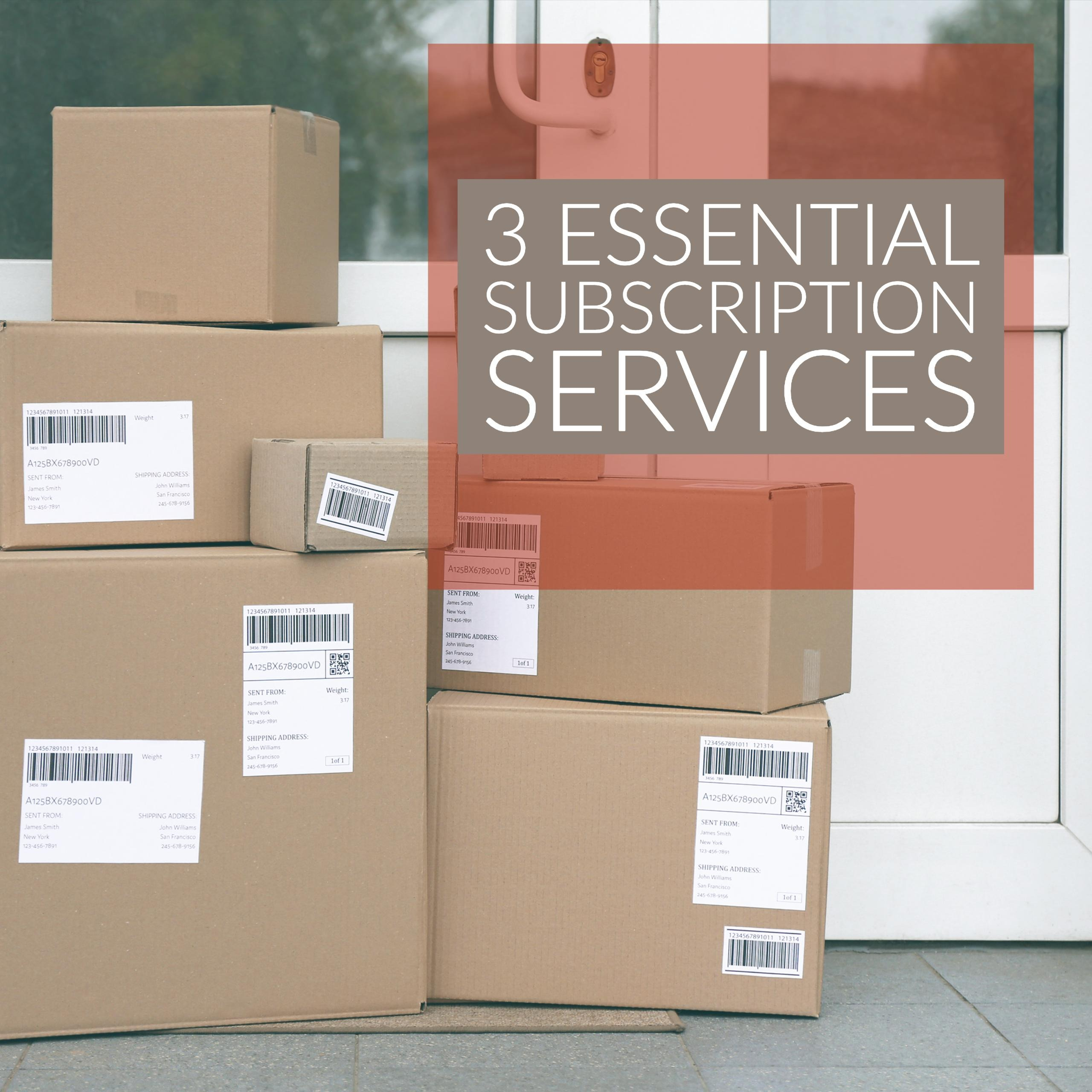 3 Essential Subscription Services That I Use