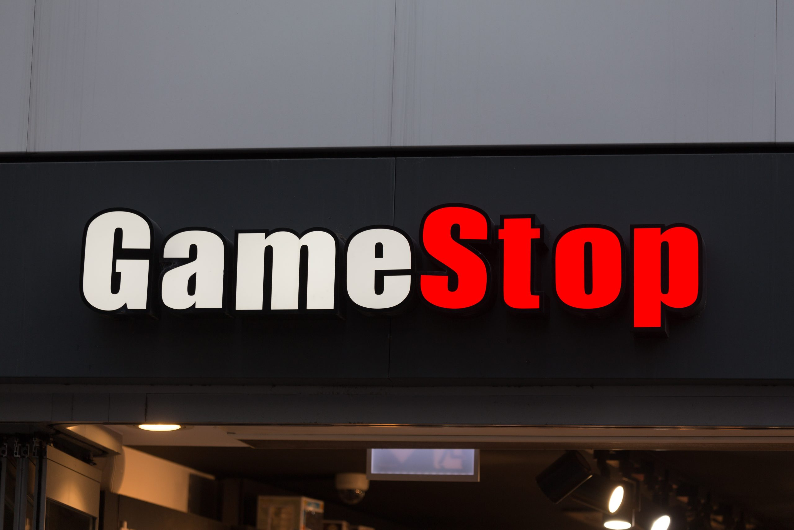 GameStop storefront sign