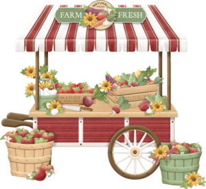 Farmers market clipart picture, great place to find food