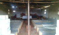 """The meeting place in Luanshya, Zambia. The """"seats"""" are made out of stone and the people would sit for hours listening to the Word. Many Americans wouldn't dare be so inconvenienced."""