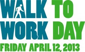 Walk to Work Day Logo - Green on White