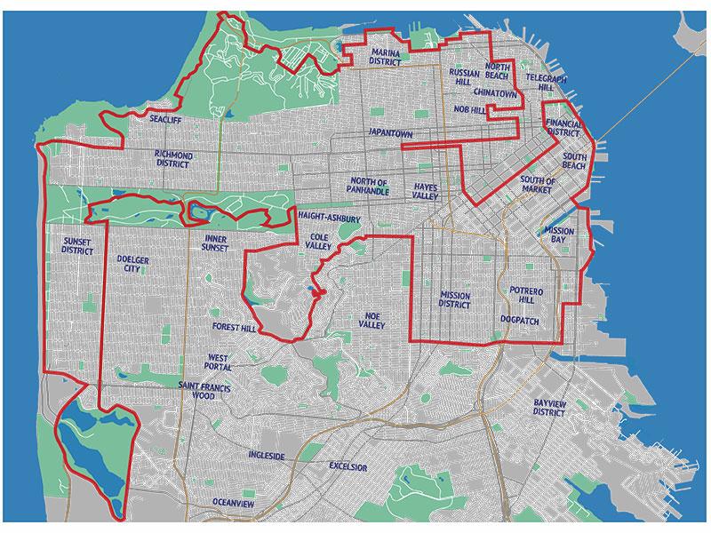 map-49-mile walking route   Walking San Francisco\'s 49 Mile Drive—