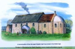 Reconstruction of the Leper Hospital and Chapel (board at the site)