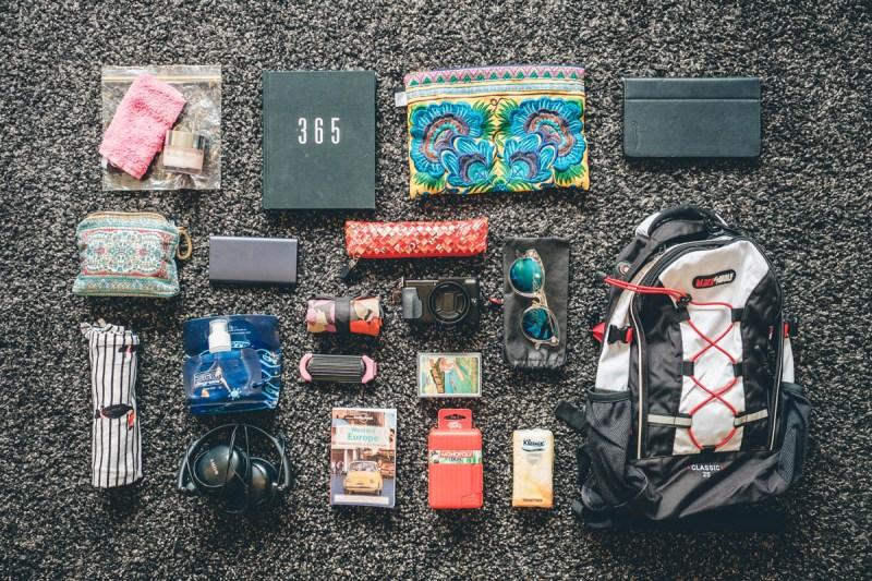 Annas travel daypack packing list
