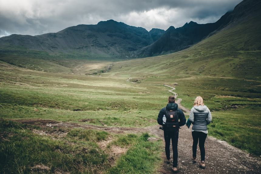 Isle of Skye Stu and Ali Path to Fairy Pools