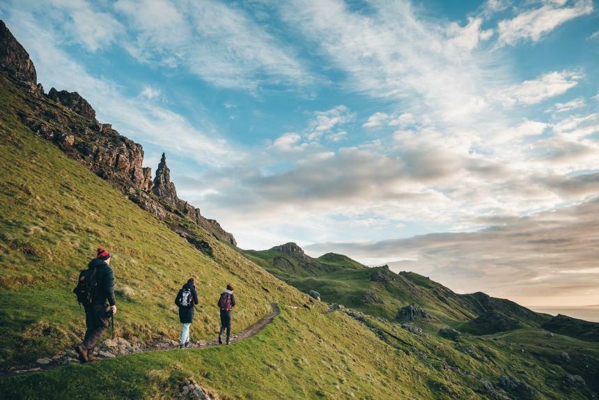 Isle of Skye Sunrise Hiking Old Man of Storr
