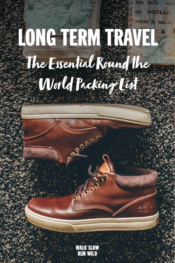 Long Term Travel Ultimate Round The World Packing List Pinterest