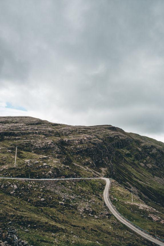 Scotland Applecross Bealach na Ba Steep Road Hairpin