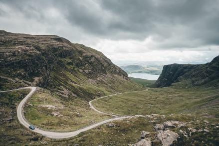 Scotland Applecross Bealch na Ba Road Ascent