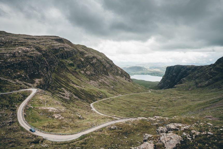 Scotland Applecross Bealch na Ba Road Ascent