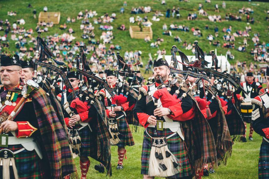 Scotland Blair Athol Highlanders Bagpiping