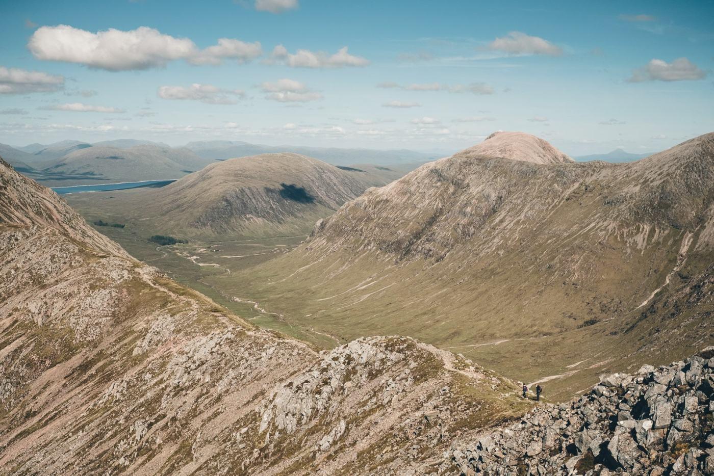 Scotland Glencoe Anna and Ali tiny hikers along ridge
