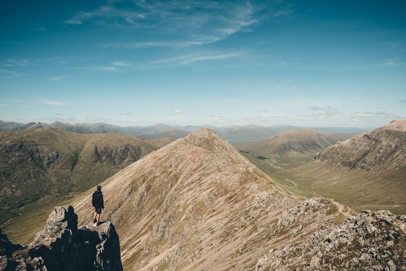 Scotland Glencoe Stu looking back on Stob Dubh