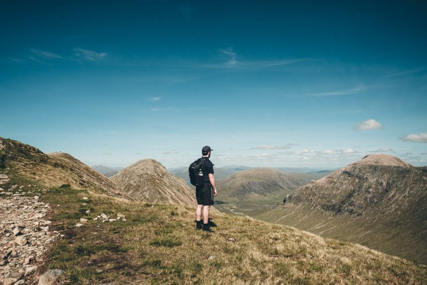 Scotland Glencoe Tim Looking Out over Valley