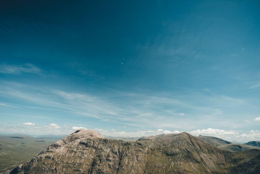 Scotland Glencoe View Across Mountaintops