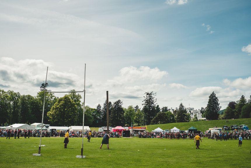Scotland Highland Games Caber Toss