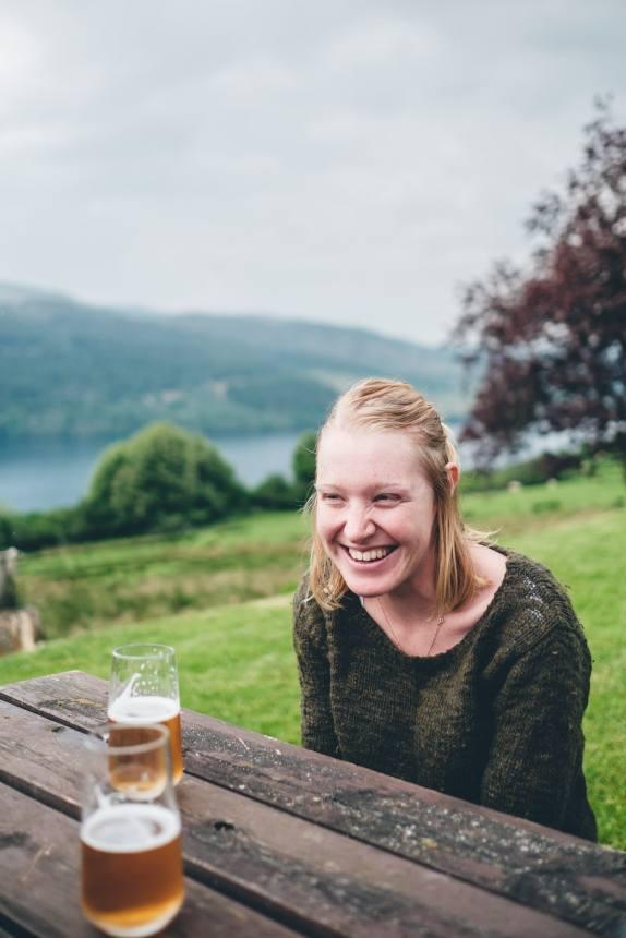 Scotland Loch Tummel Hotel Ali Laughing
