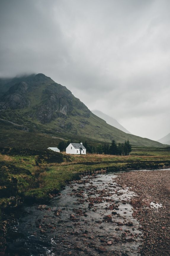 Scotland River Stream White Stone Bothy