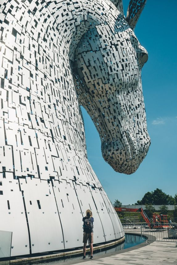 Scotland The Kelpies Human For Scale