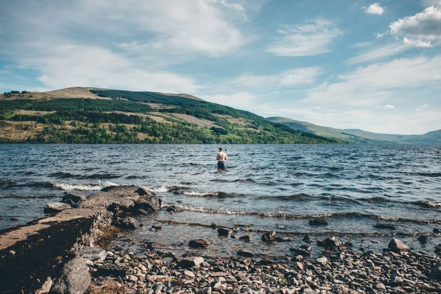 Scotland Tim Swimming in Loch Tay
