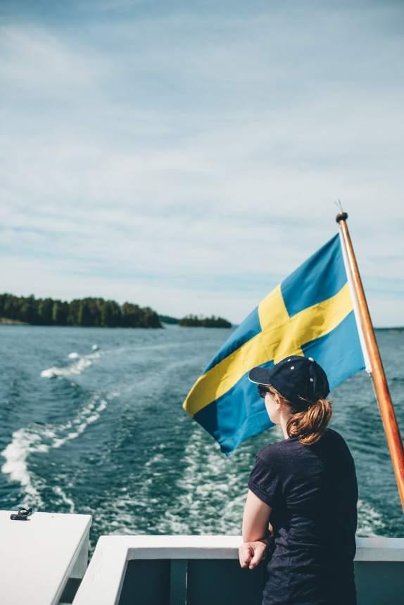 Stockholm Archipelago Swedish Flag Ferry