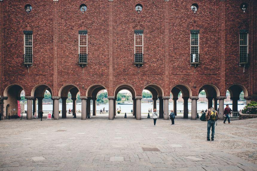 Stockholm City Hall Brick Arches