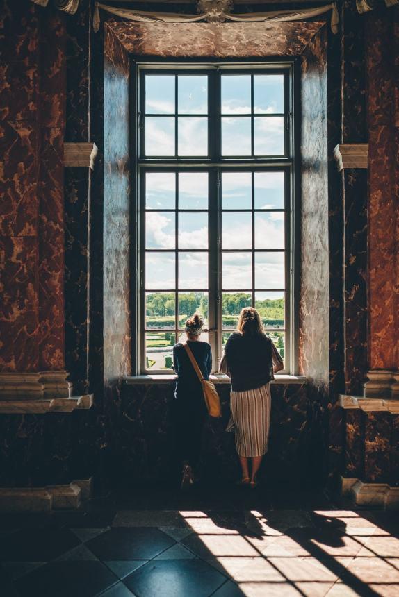 Stockholm Drottningholm Interior Window Anna Maria