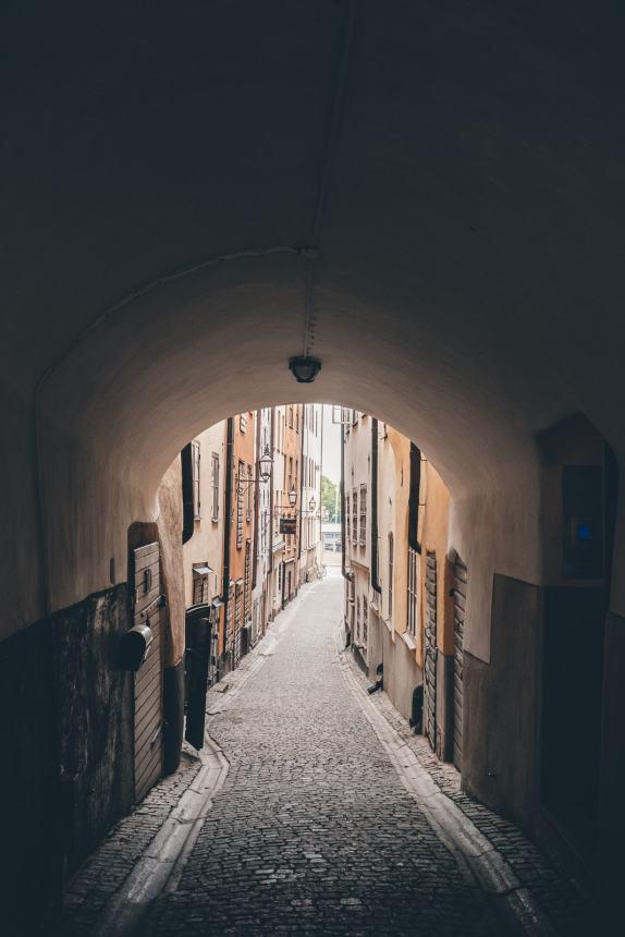Stockholm Gamla Stan Arched Lane