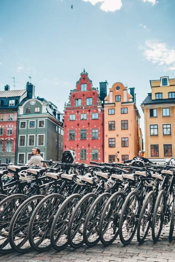 Stockholm Gamla Stan Stortorget Bikes