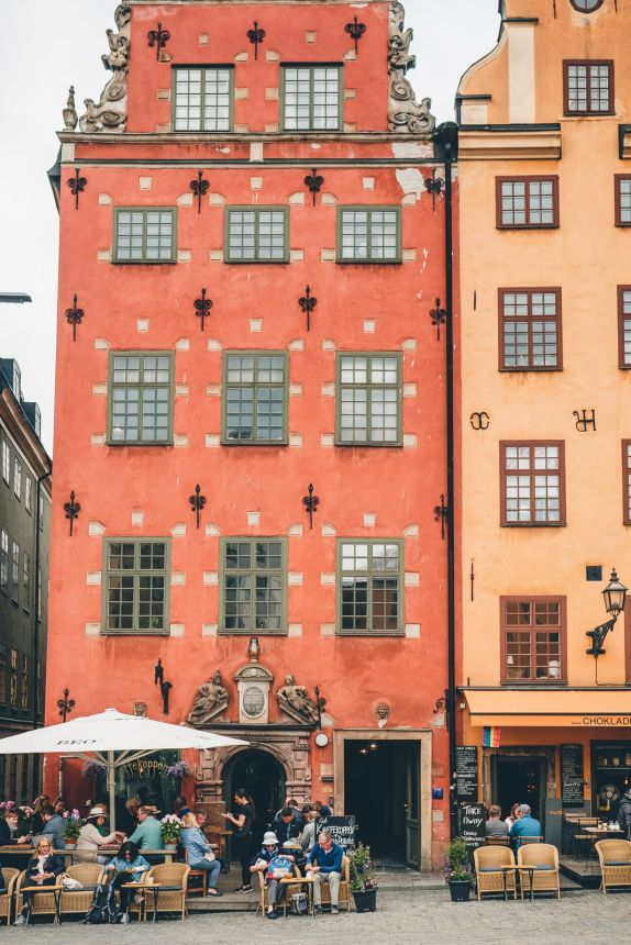 Stockholm Gamla Stan Stortorget Red and Yellow Buildings