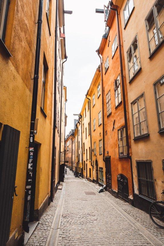 Stockholm Gamla Stan Yellow Lane