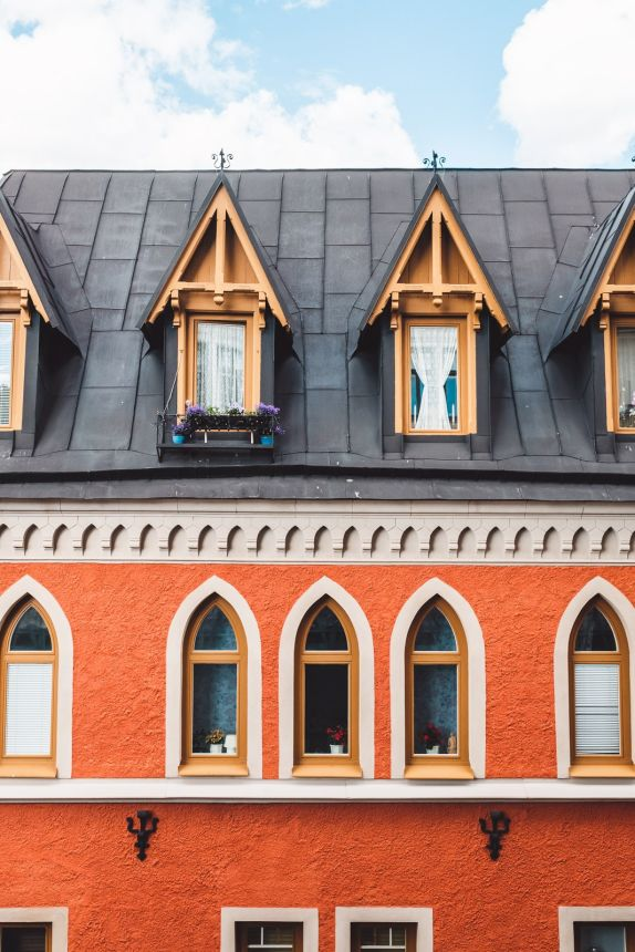 Stockholm Sodermalm Red Building Windows