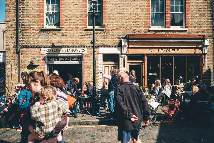 Columbia Road Flower Market London Campania Cafe