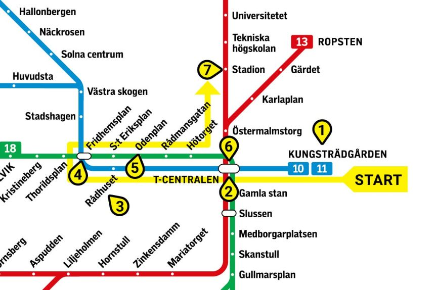 5 Most Amazing Stockholm Metro Stations Subway Art Tour Map