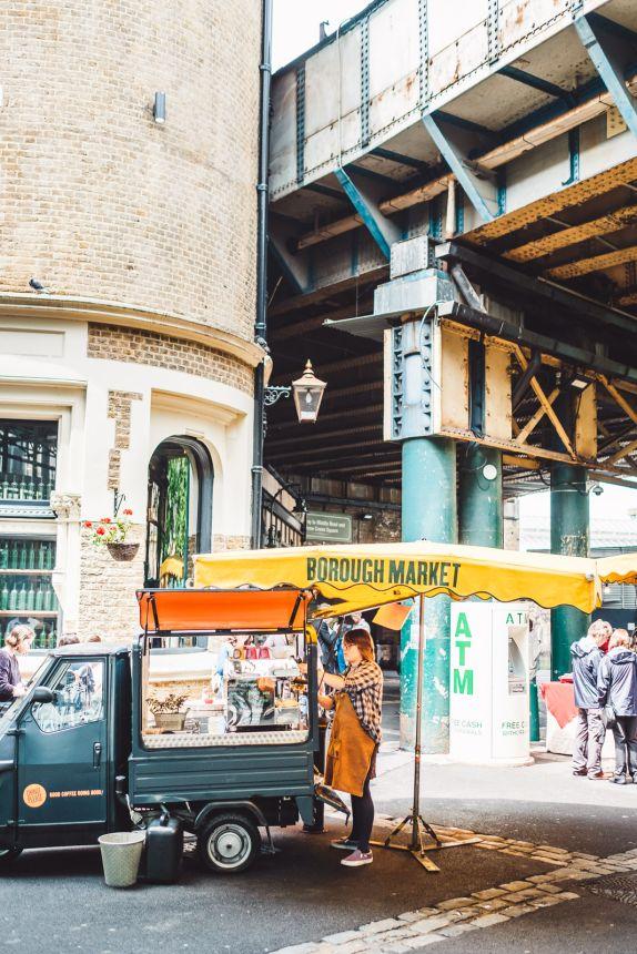 London Itinerary Borough Market Coffee Cart