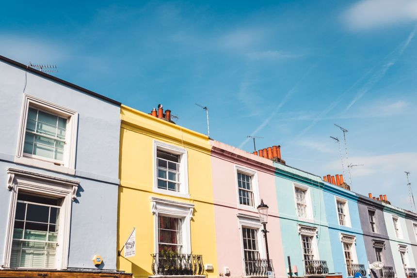 London Itinerary Notting Hill Colourful Houses