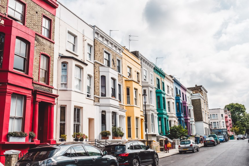 London Itinerary Notting Hill Houses in Bright Colours