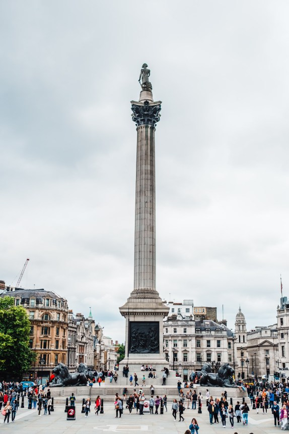 London Itinerary Trafalgar Square Nelsons Column