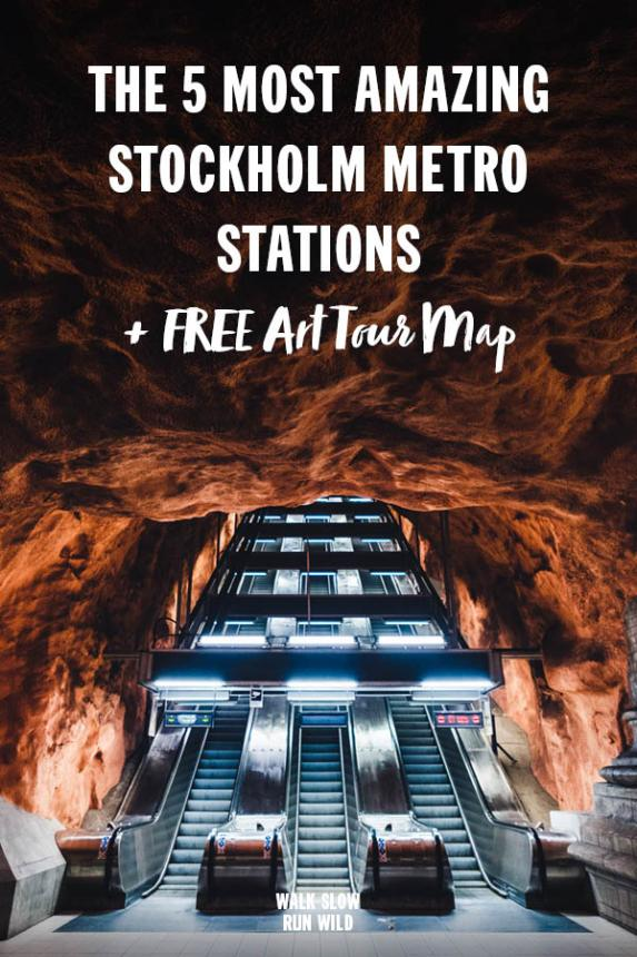 The 5 Most Amazing Stockholm Metro Stations Subway Art Tour Map2