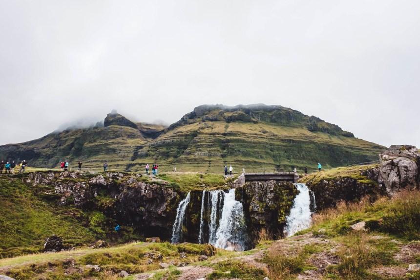 Iceland Snaefellsnes Kirkjufell Waterfall Misty Mountain