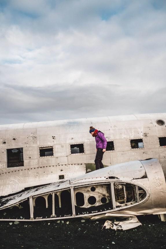 Iceland South Solheimasandur Wing