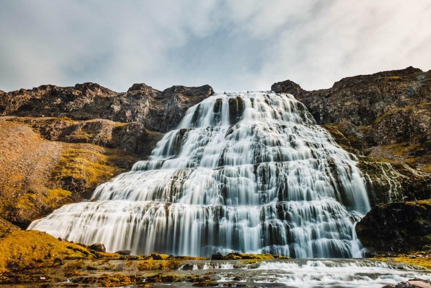 Iceland Westfjords Dynjandi Wide Long Exposure