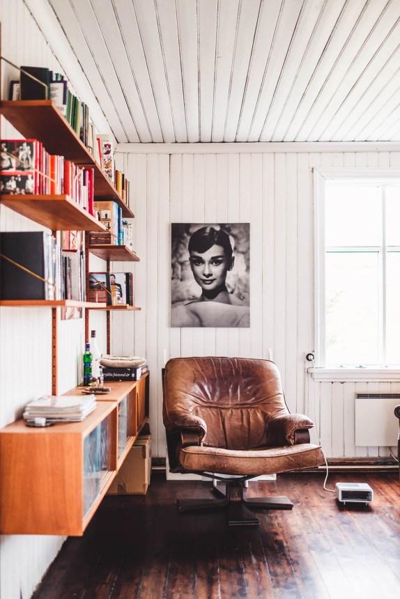 Iceland Westfjords Holmavik Airbnb Leather Chair