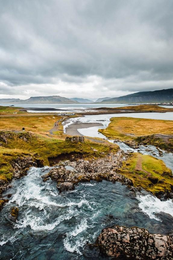 Snaefellsnes Kirkjufell Waterfall Pool