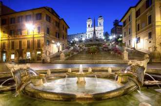 The Spanish Steps at Night.