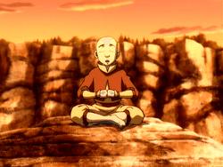 Aang Meditating