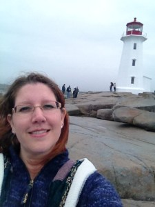 Mary Malinski at Peggy's Cove NS