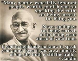 speak out against injustice